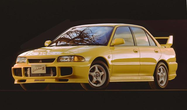 画像: 三菱 ランサーエボリューションIII。WRCで勝つための必須事項となった空力性能を、大きく高めたモデル。