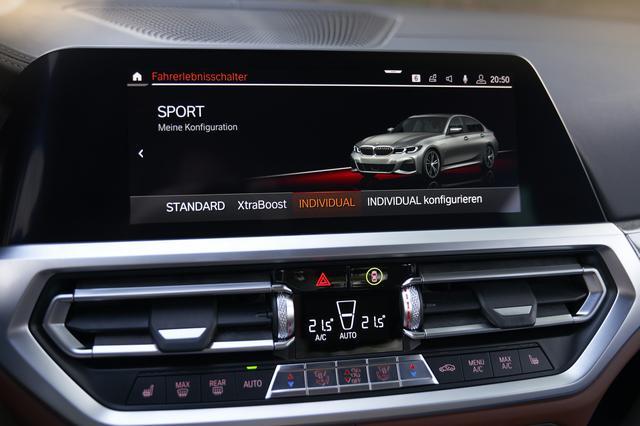 画像: 「スポーツ」モード時。ExtraBOOSTはエンジンにモーターのアシストが入り最高出力292psを発生する。