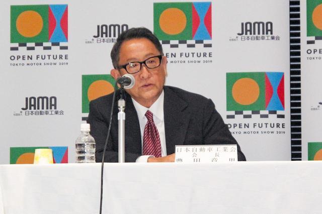 画像: トヨタの豊田章男社長。今回の会見で、豊田氏が現在務める日本自動車工業会会長の任期を2年延長されることも発表された。