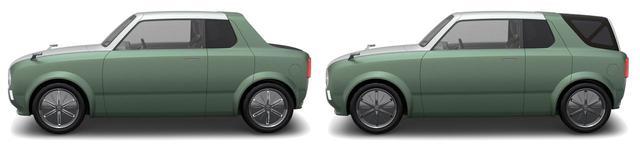 画像: スイッチひとつでクーペとワゴンを切り替える。電動でリア部分が変化するという。