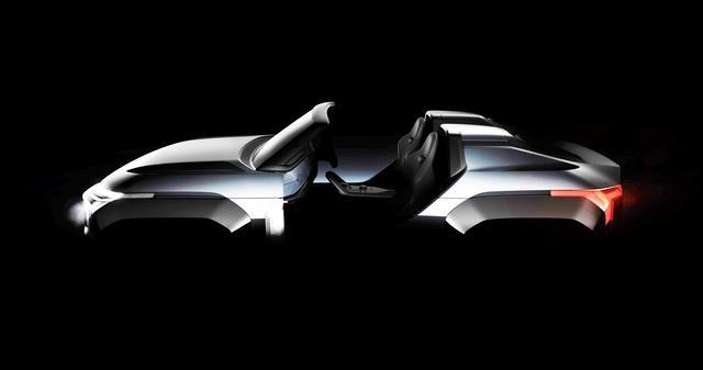 画像: 三菱自動車ブースで注目を集める「MI-TECH CONCEPT(マイテックコンセプト)」。光と風を感じながら大地を駆け抜ける電動SUV」がコンセプト。