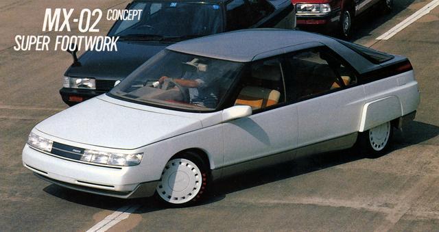 画像: マツダ MX-02は、1990年代のファミリーカーを目指していた。