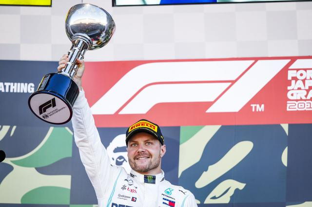 画像: 予選3番手からスタートでトップに立ち、今季3勝目をあげたメルセデスAMGのバルテリ・ボッタス。