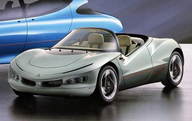 画像: 三菱のHSRは4世代目となり、HSR-IVではオープン2シーターのスタイルで提案された。