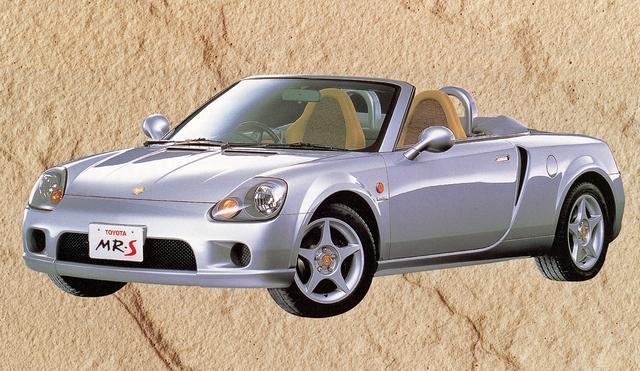画像: トヨタ MR-Sは、ほぼこのままのスタイルで1999年10月に発売された。