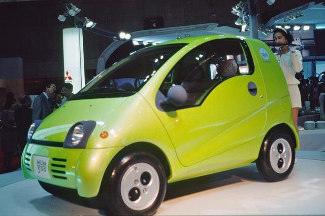画像: スマートよりも先に発表されていた、三菱のコンパクトカー MUM500。