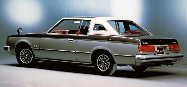 画像: 2ドアHTのクオーターピラーにオペラウインドーを備えたスタイルはスペシャリティカー的雰囲気が強く、1981年に登場するソアラとの競合を避けるため、この代でクラウンのラインアップから消滅する。