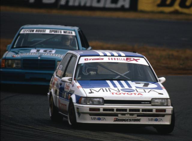 画像: トヨタ直系のトムスでチューニングされたミノルタ トムス カローラFXは、1986年のインターテックで予選20位につける。これはディビジョン2のレイトンハウス ベンツ190E2.3-16を凌ぐポジションだった。