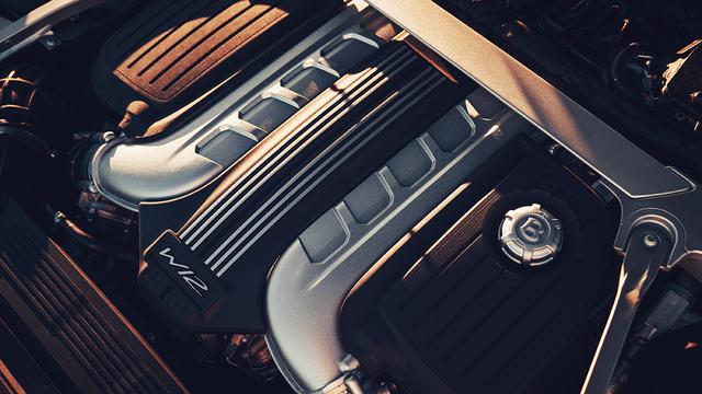 画像: 搭載の6L W12ツインターボエンジン。最高出力635ps、最大トルク900Nmを発生。