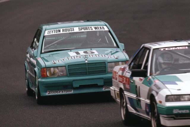 画像: 1985年シーズンが終わると同時に輸入されたレイトンハウス メルセデスベンツ190E2.3-16。レギュラーシーズンでは予選では速さを見せるものの、完走を果たせなかった。