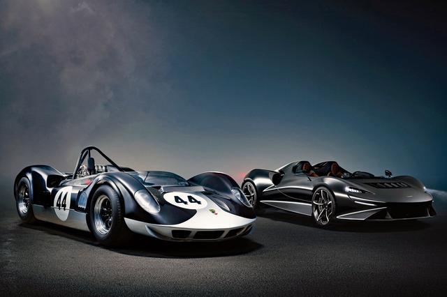 画像: 左がマクラーレン・エルバ M1A、右が最新のマクラーレン・エルバ。