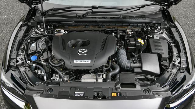 画像: マツダのガソリンエンジンに対する技術的経験則から導き出された2.5Lという排気量。ターボ過給による滑らかな力強さを実現した。