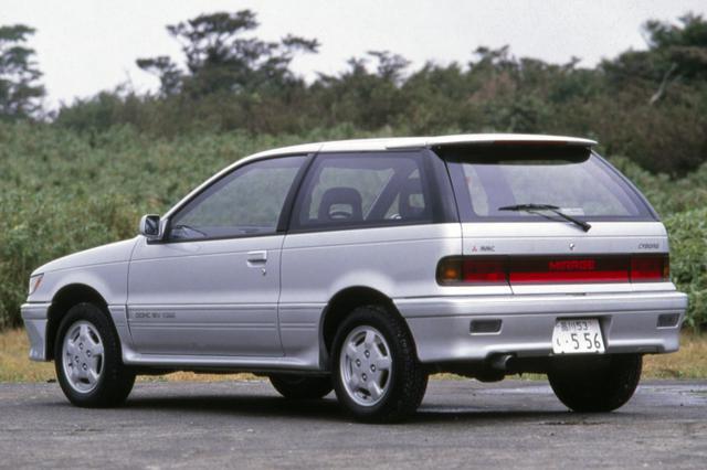 画像: 3代目ミラージュのハッチバックは3ドアのみ。1988年に4ドアセダンが追加され、また5ドアセダン版がランサーとして発売された。