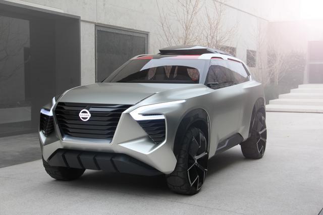 画像: 2018年のデトロイトショーで公開されたコンセプトカー「Xmotion」。新型エクストレイル(=ローグ)のコンセプトカーと言われている。発売される実車のイメージも現行型車とは大きく異なるようだ。