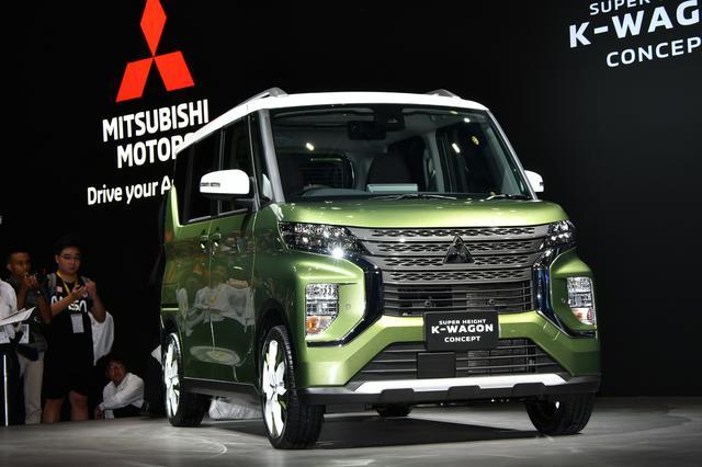 画像: 東京モーターショーに出品された三菱自動車のコンセプトモデル「K-WAGON」は、ほぼこのままのカタチで新型eKスペースとして3月に発売される。