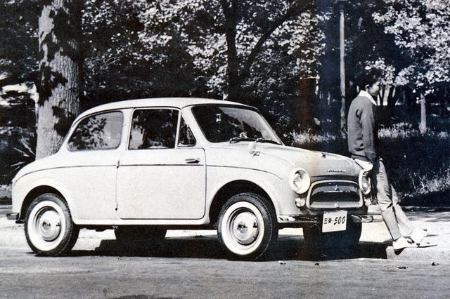 画像: 全長は3140mm、全幅は1390mmと、現代の軽自動車よりずっと小さかった。