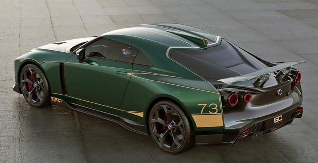 画像: グリーンのボディカラーをまとった日産 GT-R50 by イタルデザイン。「73」は、幻のケンメリGT-Rレース仕様に付けられたゼッケンだが・・・。