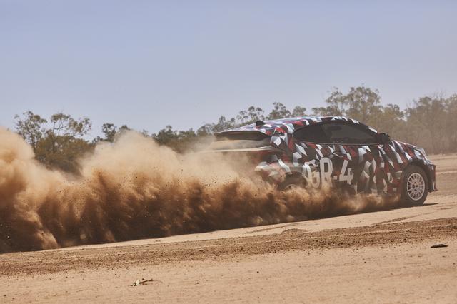 画像: 最新動画では広大なオフロードを縦横無尽に駆け抜ける「GRヤリス」のテストカーの走りが収められている。