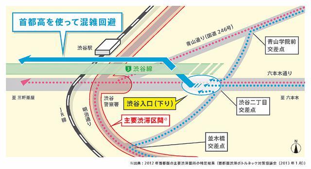 画像: 渋谷入口(下り)の開通で、渋谷駅周辺の混雑緩和も期待されている。