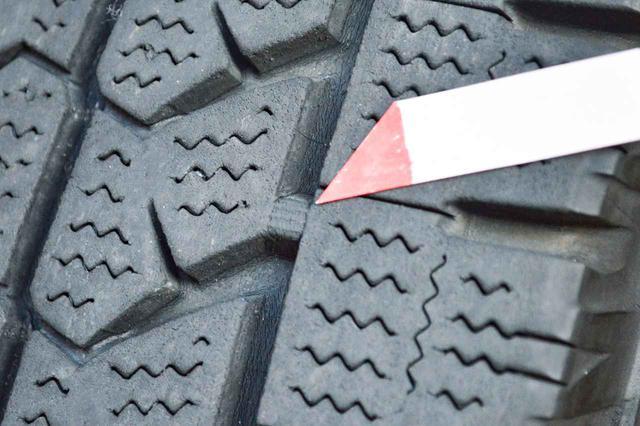 画像: スタッドレスタイヤのスノープラットフォームが露出した状態。