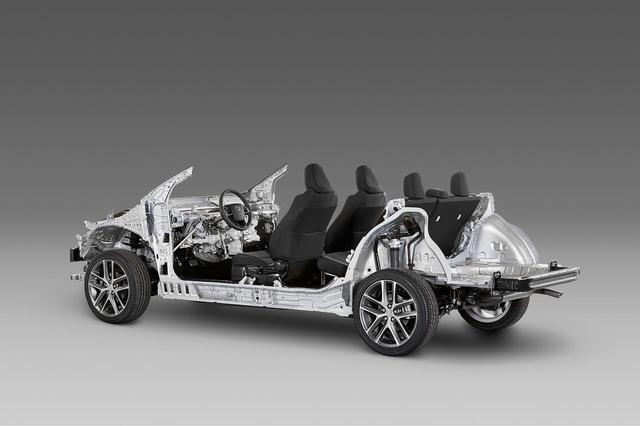 画像: プラットフォームの共有化など、同じリソースで複数の車種を作ることによりクルマの基本性能を平準化できる。トヨタではそれをTNGAと呼ぶ。