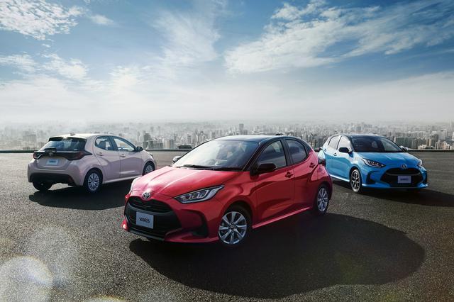画像: 左から、1.5 Z(2WD・CVT)、HYBRID G(2WD)、HYBRID Z(E-Four)。いずれもオプション装着車。