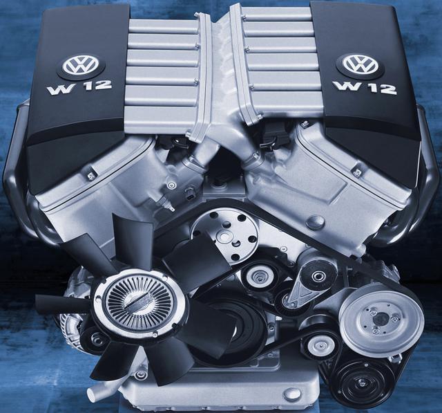 画像: フォルクスワーゲンが誇る6L W型12気筒エンジン。フェートン、アウディA8のものと基本は共通。