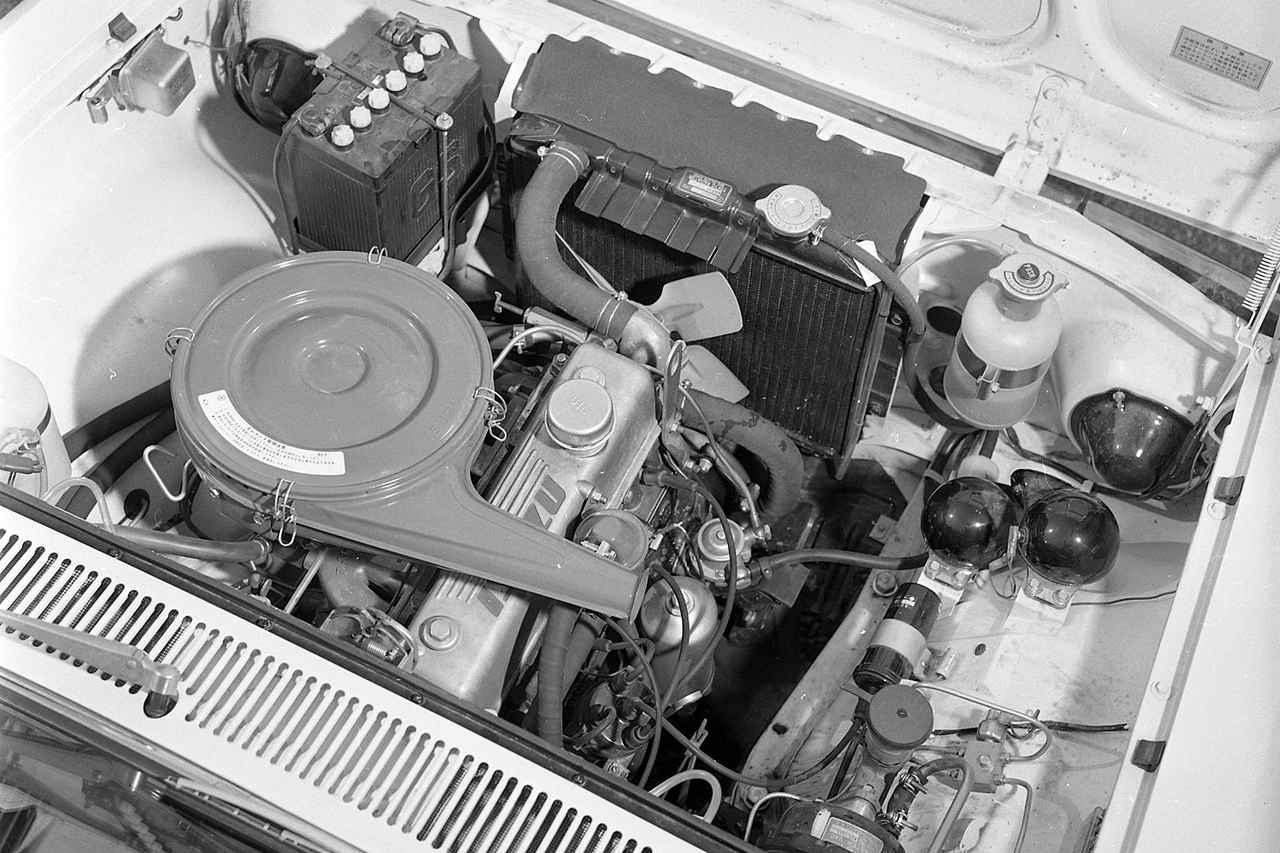 画像: エンジンの基本部分は、ベレットのものをほぼそのまま流用していた。