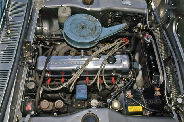 画像: L型6気筒エンジンは、こののちフェアレディZやローレルなど、多くの日産車に搭載される。