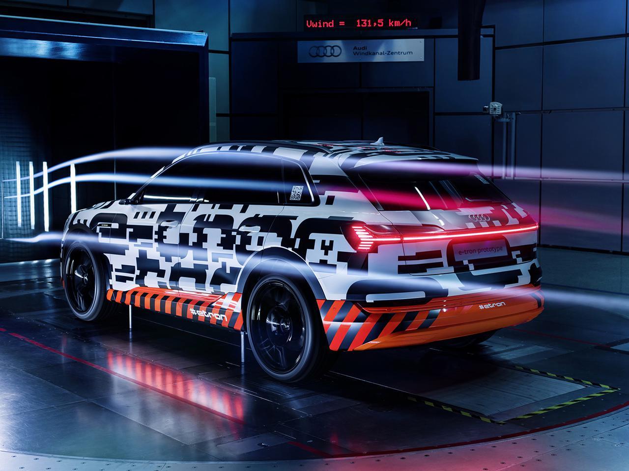 画像: 2020年に日本で発売されるアウディ初の電気自動車「e-tron」も徹底的にエアロダイナミクスを追求している。