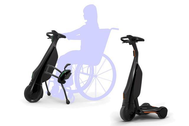 画像: 東京オリンピックの会場で、歩行や車いすでの移動をアシストする歩行領域EV。