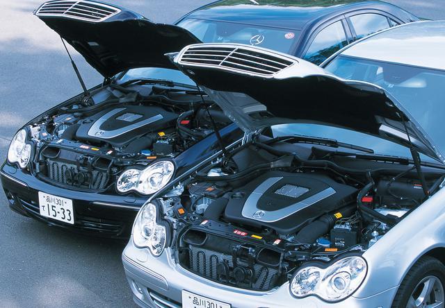 画像: 右手前が3L V6エンジンを搭載するC280、左奥のC230のエンジンは2.5L V6。