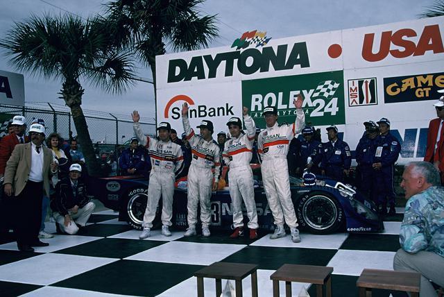 画像: ニッサンR91CPのデイトナ24時間制覇はビッグニュースだった。その快挙は3人の日本人ドライバー(長谷見昌弘、星野一義、鈴木利男)によって達成された。