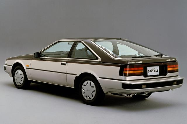 画像: 写真は姉妹車のガゼール HB ターボR-X・G。グリルやテールランプなどのデザインが、シルビアとは異なる。