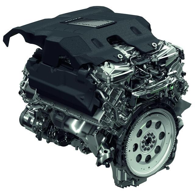 画像: ジャガー、ランドローバーに搭載される5L V8スーパーチャージャー。大排気量ユニットに搭載することで、エンジンへの負荷は小さくなっている。