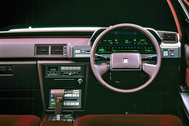 画像: グランデ ツインカム24にはデジタル式のエレクトロニックディスプレイメーターも設定されていた。