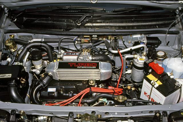 画像: 0.55Lの直3SOHCにインタークーラー付きターボを装着し、52psと7.1kgmを発生した。