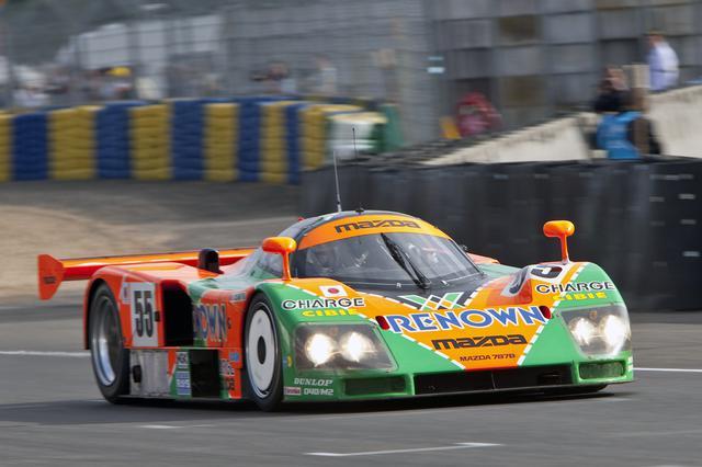 画像: 991年のル・マン24時間レースで、日本車初の総合優勝を果たしたマツダ787B。