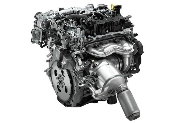 画像: マツダのSKYACTIV-Xエンジン。ガソリンの圧縮着火による燃焼でリーンバーンを可能として、少ない燃料で高効率な燃焼を実現する。