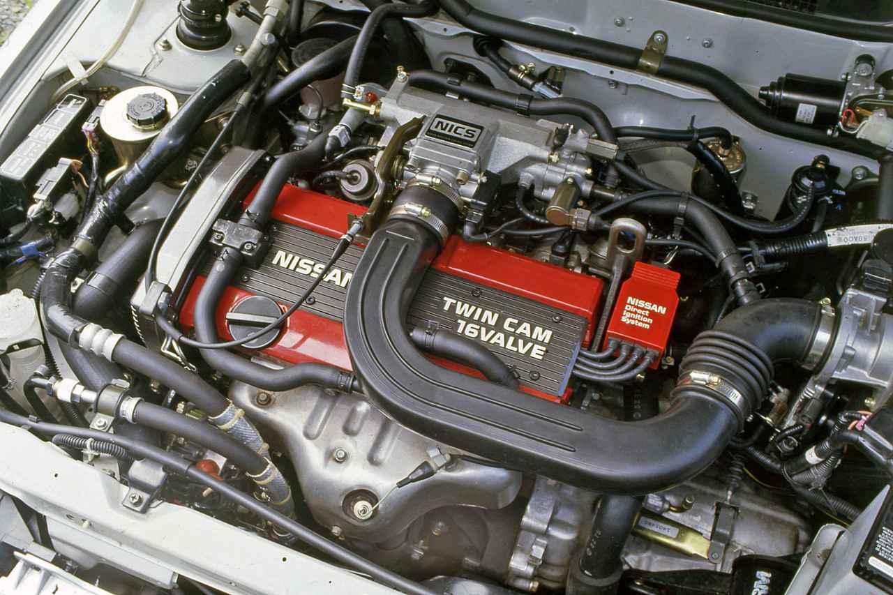 画像: 小型FF車用としては日産初のDOHCエンジンとなったCA16DE型は、ネットで120psを発生。