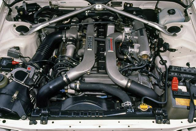 画像: シリーズ最強のエンジン、1G-GTEはツインターボで210psと28.0kgmを発生する。