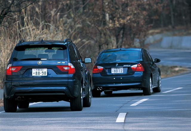 画像: 冬場は陽が当たらない場所では路面が凍っていて一瞬ヒヤリとさせられるが、330xiとX3の2台はなんの違和感もなく走り抜けていった。