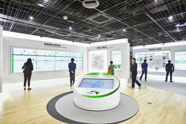 画像: 見学者用の展示室のイメージ。高速道路の変遷やNEXCO東日本の取り組みなどを展示している。