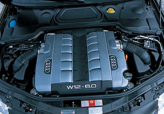 画像: 6L、W12気筒エンジン。フェートン、トゥアレグ、ベントレー(過給器付き)に搭載され、今や「新世代12気筒」として認知されている。V8ユニットとほとんど同じ大きさと重量。