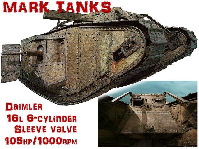 画像: タイトル画像:第一次世界大戦下の1916年9月、ソンムの戦いで出現したマークⅠ型タンク(画像はⅣ型)。全長・全幅とも現代の戦車をも凌ぐ怪物だ。