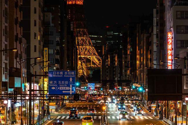画像: 第二京浜は西五反田一丁目交差点から、横浜の青木通交差点までの区間のことをいう。つまり、写真の三田通りと桜田通りは第二京浜ではない。