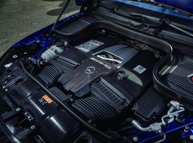 画像: GLE 63 SとGLS 63に搭載される4L V8DOHCツインターボ。最高出力612ps、最大トルク850Nm。