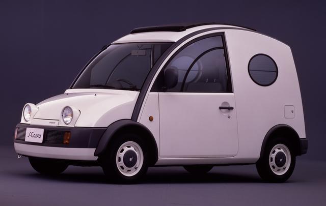 画像: 商用車なのでパイクカー・シリーズにカウントされないこともあるS-Cargo(エスカルゴ)。とは言えユニークなデザインは使い勝手も良く、今でもときおり街中で見かける。