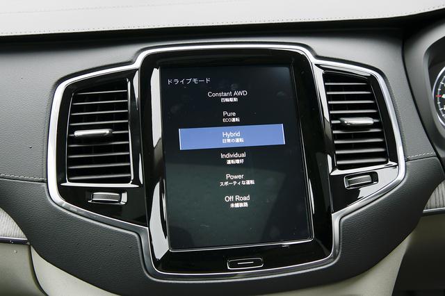 画像: ドライブモードはコンスタントAWD、ピュア、ハイブリッド、インディビジュアル、パワー、オフロードの6種類が用意される。