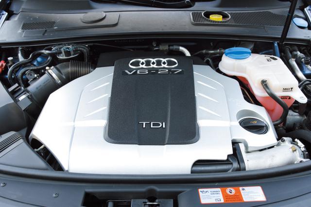 画像: A6アバント2.7TDIに搭載されるエンジン(180ps/380Nm)。A4の3.0TDIエンジンと構成はほぼ共通だが、こちらのノズルは8ホール型。